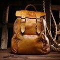 Повседневная винтаж натуральная кожа рюкзаки полноценно кожа большие сумки емкость женщины мужчины дорожная сумка мужская повседневная daypacks