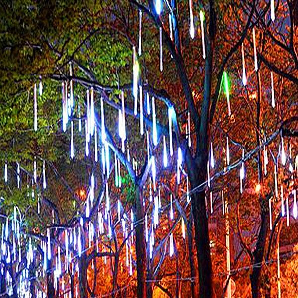 Waterproof 50cm 10 Tube LED Meteor Shower Rain LED String Christmas Lights Outdoor Garden Xmas Cristimas Party Decoration Tree цена