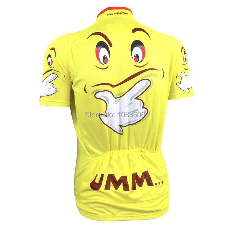 Classic Creative Yellow Cool Expression Cycling Jersey Short Sleeve Bike  Shirt Size 2XS To 5XL-in Cycling Jerseys from Sports   Entertainment on ... 1fcdd8e73