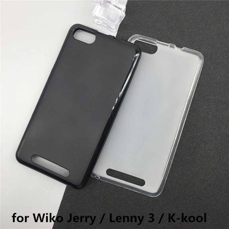 Soft Silicone Telefoon Gevallen voor Wiko Jerry/Lenny 3/K-kool Originele TPU Cover Pudding Case Capa Fundas Zwart Shell