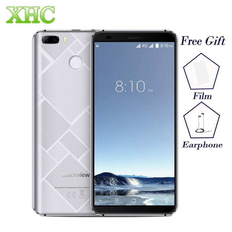 "Blackview S6 Smartphones 2GB 16GB 18:9 Full Screen 5.7"" 720*1440 MTK6737 Quad core Android 7.0 Dual SIM GPS OTG OTA Mobile Phone"