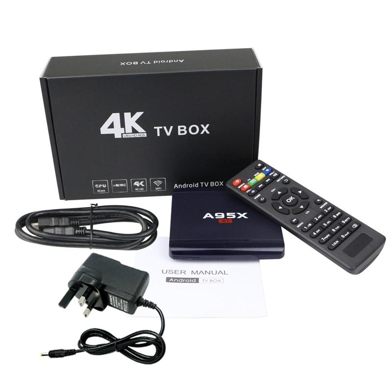 A95X R1 OTT TV Box RK3229 Quad Core Smart TV Box 1G 8G Android 6.0 Media Player 4K*2K WiFi MINI PC