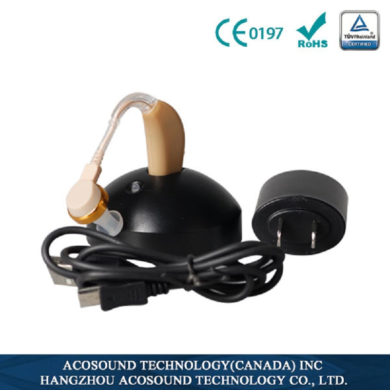 Acosound Recharger-Plus Rechargeable Hearing Aids Ear Care Sound Amplifier Digital BTE Hearing Aid Hearing Device acosound 210bte digital hearing aids deaf hearing aid sound amplifier bte ear aids hearing amplifier ear care tools