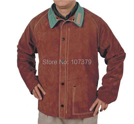 Cow Leather Welding Clothing Leather Welder Aprons Split Cow Leather Welding Jackets