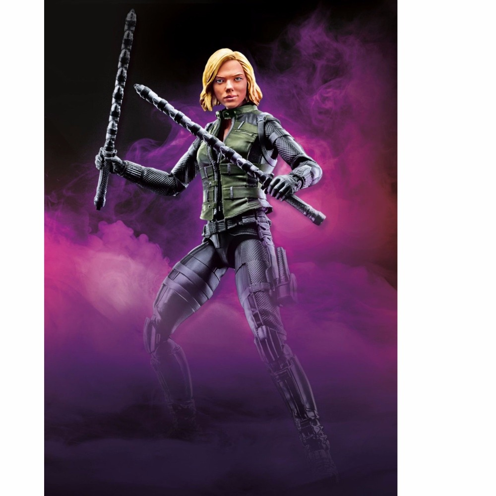 2018 Movie Marvel Legends 6 Black Widow Action Figure From Avengers Infinity War Cull Obsidian BAF Wave 2 Collectible Loose custom marvel legends 6 blade eric brooks action figure with 2 guns heads from netflix man thing baf wave collectible loose