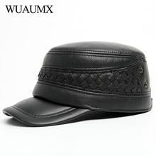 Wuaumx новые зимние военные шапки из натуральной кожи для мужчин