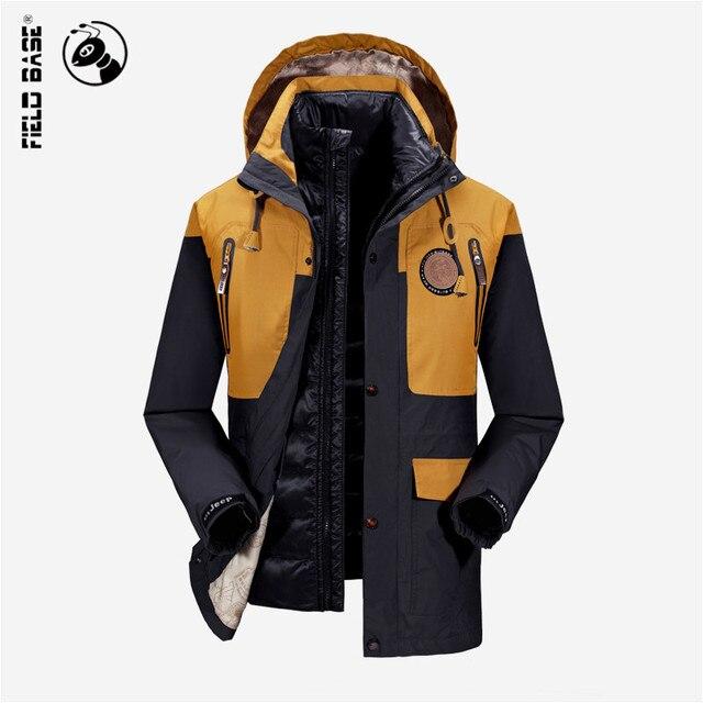 US $149.0 |Uomini Giacca Invernale di marca Giacca A Vento Impermeabile Antivento Moda Parka Abbigliamento Da Uomo Cerniera Cappotti Taglia 4XL