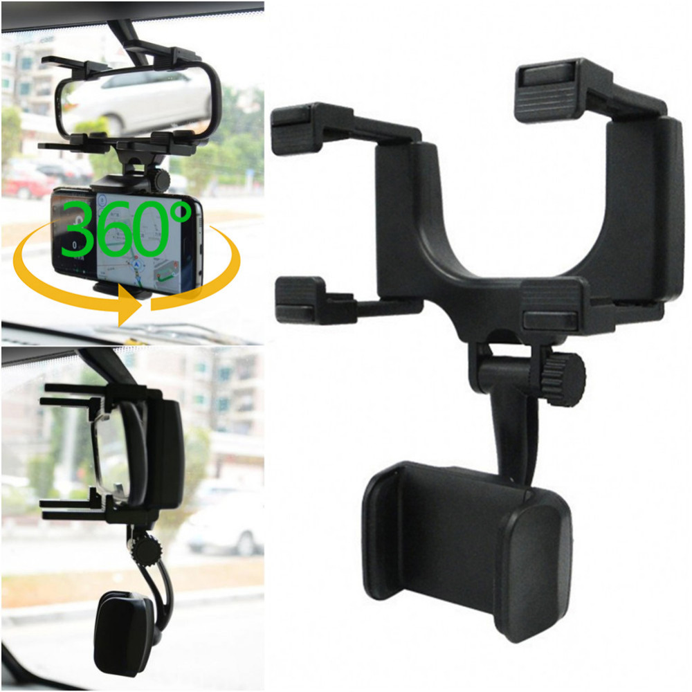Car Rearview Mirror Mount Mobile Phone Holders & Stands Universal Navigation Support Automobile Data Recorder Holdfast 360 degree car auto rearview mirror mount cell phone holder bracket stands