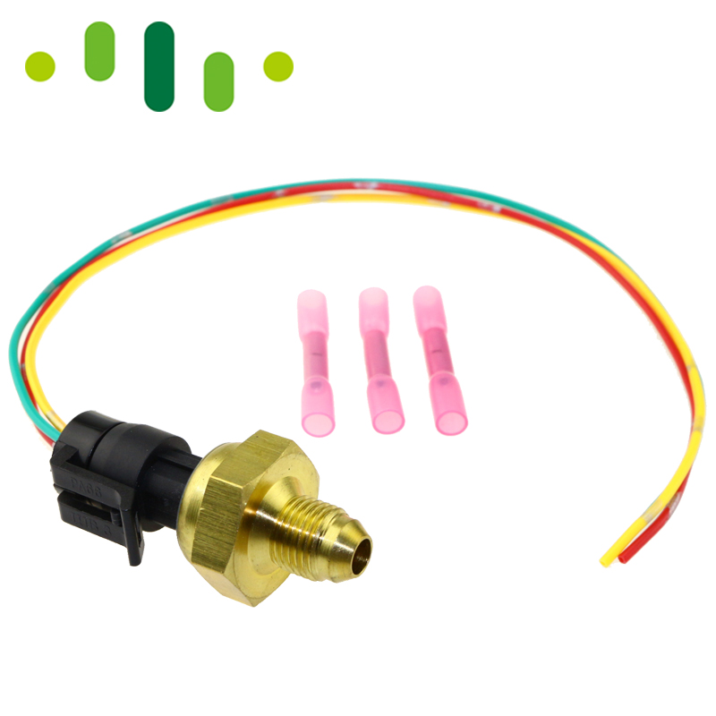 1850352c2 exhaust back pressure sensor ebp transducer for ford powerstroke  6 0l 2005 2007 with pigtail connector plug kit-in pressure sensor from