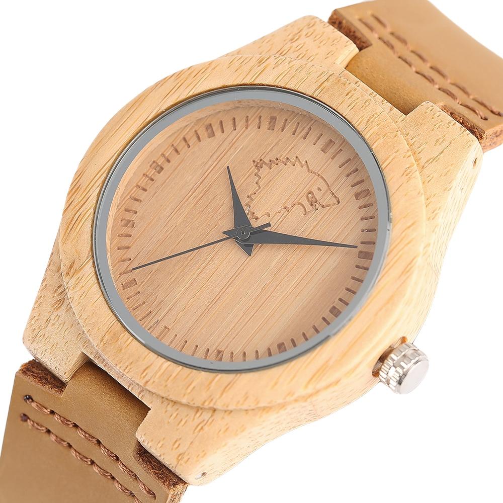 Dames originele aard bamboe armband polshorloge voor vrouwen koele - Herenhorloges