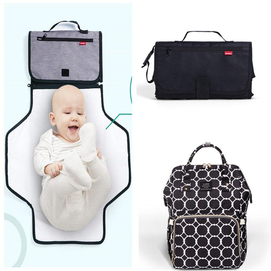 REAL LAND Diaper Bag with Changing Mat Pad bag Set Mommy Large Capacity Nursing Travel Backpacks