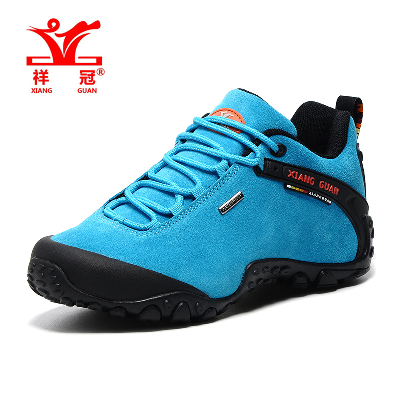 XiangGuan trekking shoes women Outdoor hiking shoes female waterproof zapatillas trekking hombre winter sport shoes size 36-39