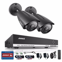 ANNKE 4CH AHD 1080N DVR CCTV System 2PCS AHDH 720P IR Waterproof Outdoor Security Camera Home