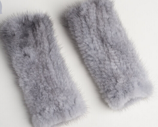 20cm Lovely Cheap Winter Fur Gloves Fur Fingerless Mink Fur Gloves