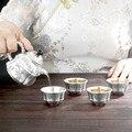 Чайник из чистого серебра 999 футов Серебряный набор для чаепития Серебряная чашка для чая практичный подарок из чистого серебра подарок на ...