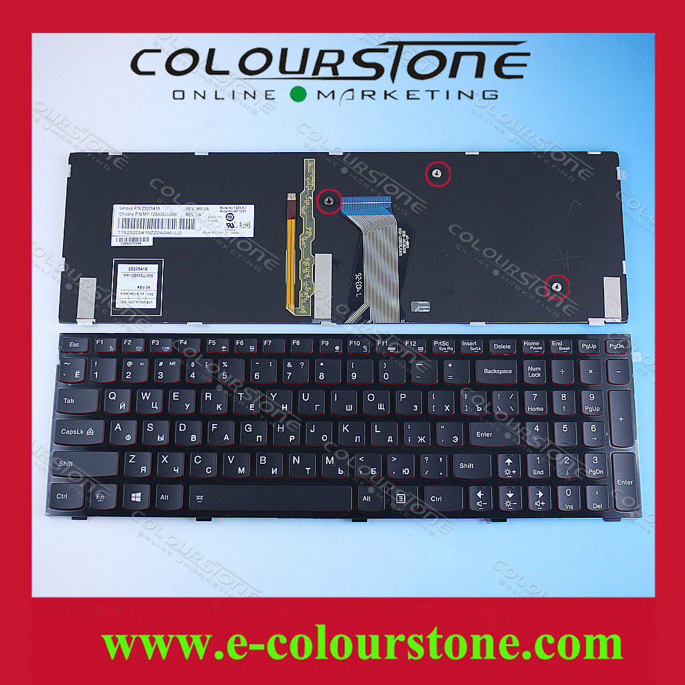 Original Russian Laptop Keyboard for Lenovo Ideapad Y500 Y500N Y510p series RU Black keyboard WITH BACKLIT цена