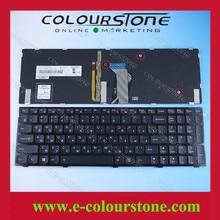 Original Russian Laptop Keyboard for Lenovo Ideapad Y500 Y500N Y510p  series RU Black keyboard WITH BACKLIT