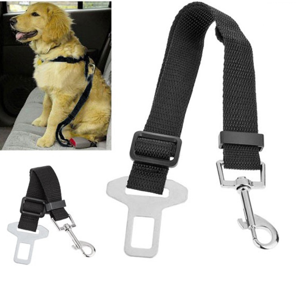 50PCS Adjustable Dog Cat Pet Car Safety Seat Belt Black Pet Belt for Dog Blue Safety Seat Belt Red Amy Green Dog Belt