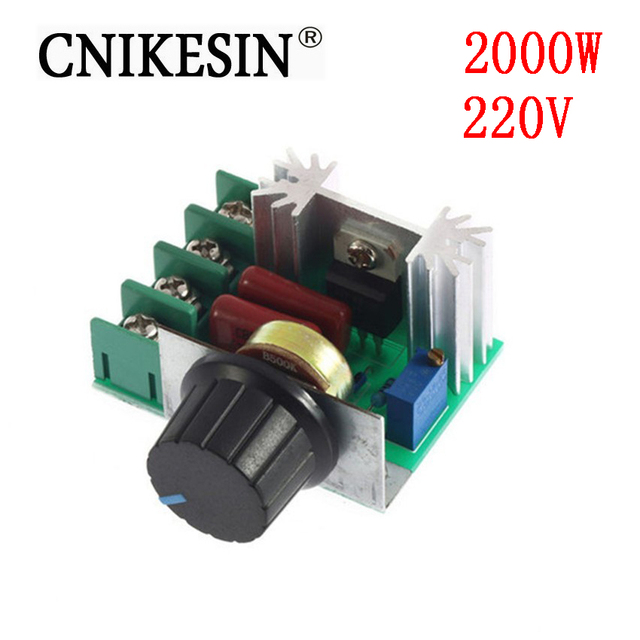 CNIKESIN 220V Imports of 2000w High Power Thyristor Dimmer Electronic Voltage Regulator for Temperature Control