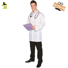 popular men mad scientist costume crazy hospital white long lab coat fancy dress halloween party cosplay doctor costumes