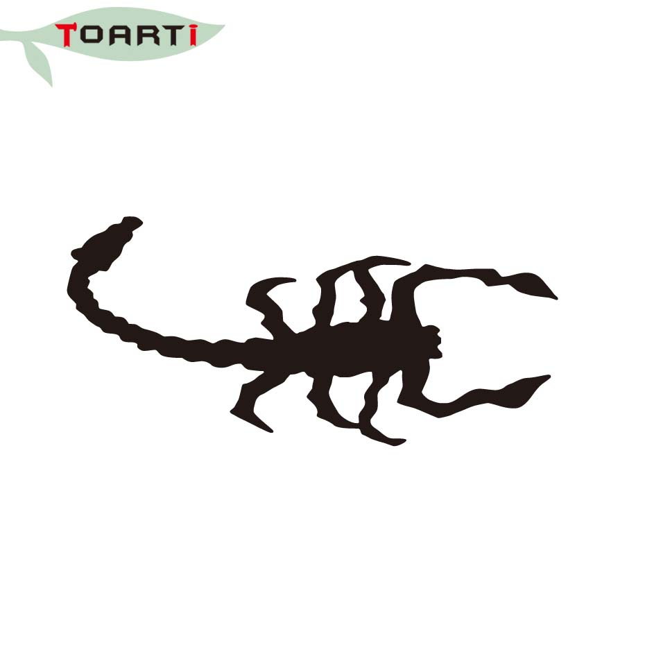 Scorpion decal inscet car sticker waterproof removable vinyl truck decor accessories creative design laptop decals decoration in car stickers from
