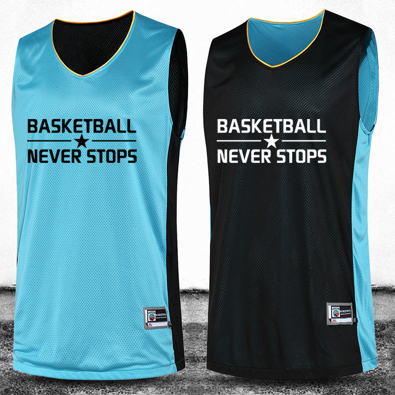 Men's Reversible Basketball Jersey Double Sided 2016 Big ...