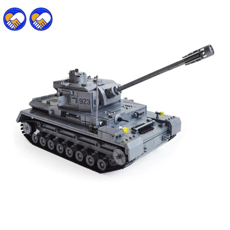 A toy A dream Panzer IV F2 Tank 1193pcs Building Blocks Compatible Legoingly Tank Educational Bricks Toys Models Building Toys