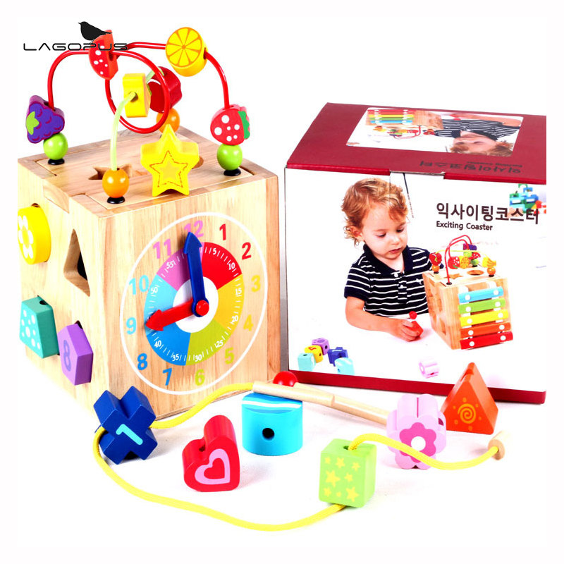 Baby Toys Classic Toy Wooden Bead Maze Child Beads Educational Toys Rollercoaster Maze Puzzle Toys Paradise Birthday Gift wooden bead maze activity center box multi function round beads box cube wood toys unisex kids multipurpose educational toy