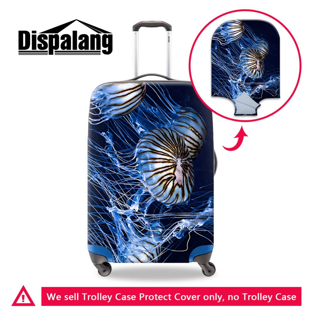 Dispalang Elastic Luggage Protective Cover For 18-30 inch Trolley Case Jellyfish Suitcase Protect Dust Cover Travel Accessories