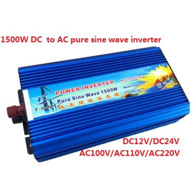 digital display Surge power 3000w rated power 1500w Pure Sine Wave Solar Inverter ,DC12V/24V to AC110V/220V, 50Hz/60Hz
