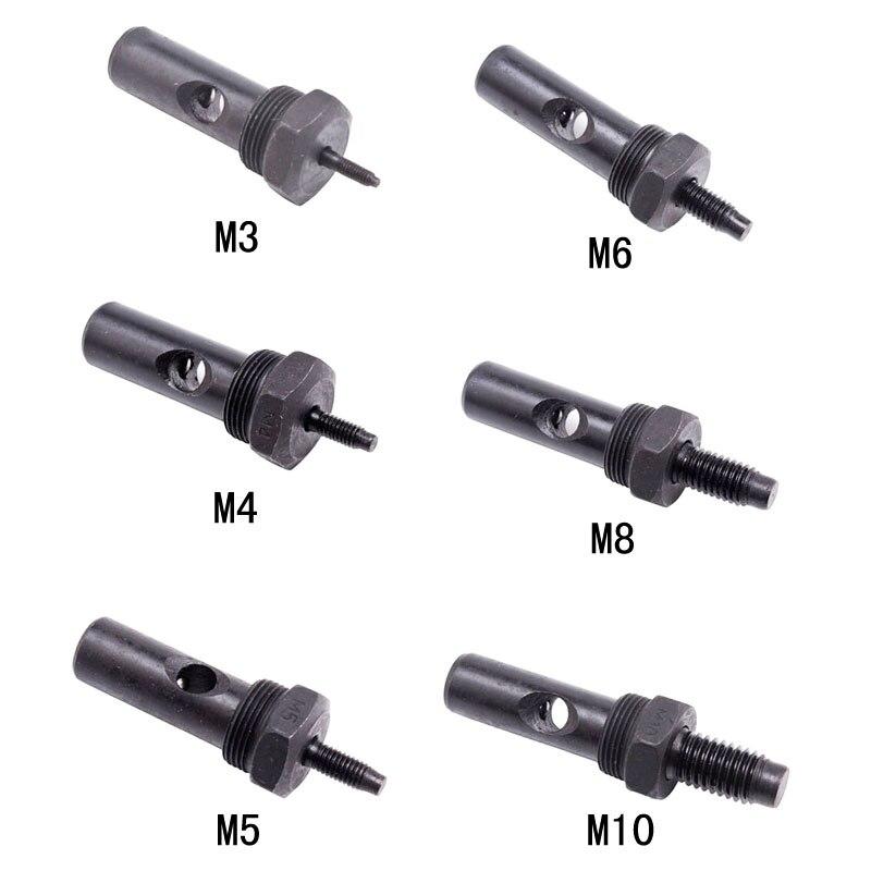 Rivet nut Head Pull riveting nut gun head spare part cap gun manual gun nut screw rod supporting accessories M3 M4 M5 M6 M8 M10 ootdty electric rivet gun tool nut