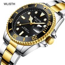 WLISTH Brand Men Automatic Mechanical Watch Stainless Steel Fashion luxury Wrist Watches Male Reloj Hombre Relogio Masculino недорого