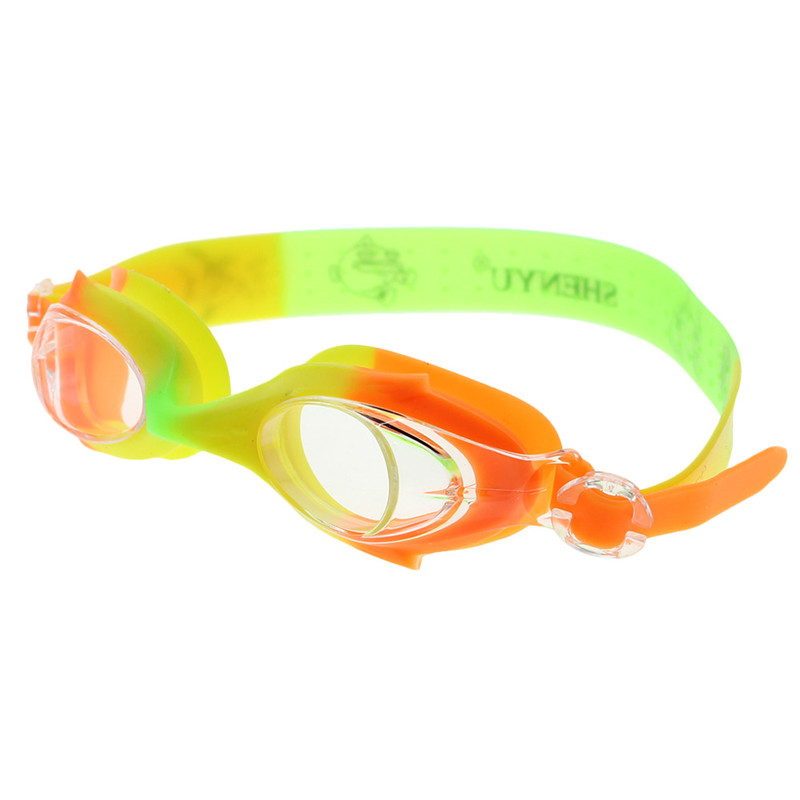 Новые Мягкие силиконовые детские непромокаемые противотуманные очки для плавания-Red_Yellow_Blue