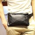 Novo design de alta qualidade do couro do plutônio dos homens cintura packs fanny pacote de cintura dos homens pequenos sacos de viagem Da Moda para os homens de bolso carteira