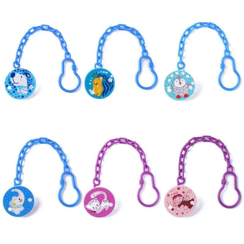 Kids Baby Pacifier Chain Cartoon Animal Feeding Safe Soother Teether Clips