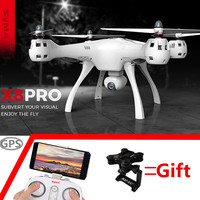 SYMA X8 PRO GPS RC Drone Quadcopter 2.0mp Wifi 720p Camera FPV 6 Axis Ggro Auto Return Position Holding Flying