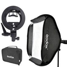 "40×40 см 16 ""GODOX Flod Photo Studio Softbox Диффузор + S-Type Bowens Кронштейн для Вспышки + Сумка Комплект для Камеры Flash"