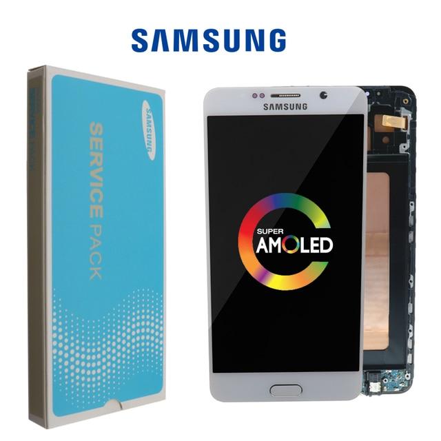 5.7 OLED kaliteli LCD SAMSUNG Galaxy not 5 ekran LCD dokunmatik ekran SAMSUNG not 5 için Note5 N920A n9200 SM N920 N920C