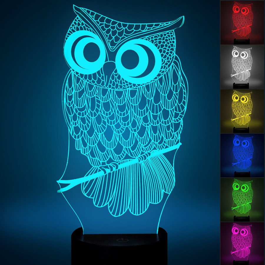 Night owl reading lamps - Owl Led Lights
