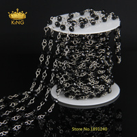 5Meter/lot Glass Faceted Abacus Beads Chains Jewelry Findings for Necklaces Bracelets Earrings Making LS26