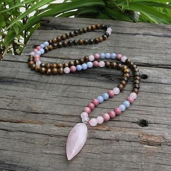Bracelet Mala Rhodochrosite et quartz rose