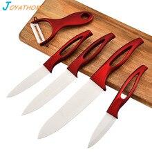 Joyathome 6pcs/Lot White Blade Ceramic Knives Set Chef Knife Kitchen Couteau Ceramique Cuchillo