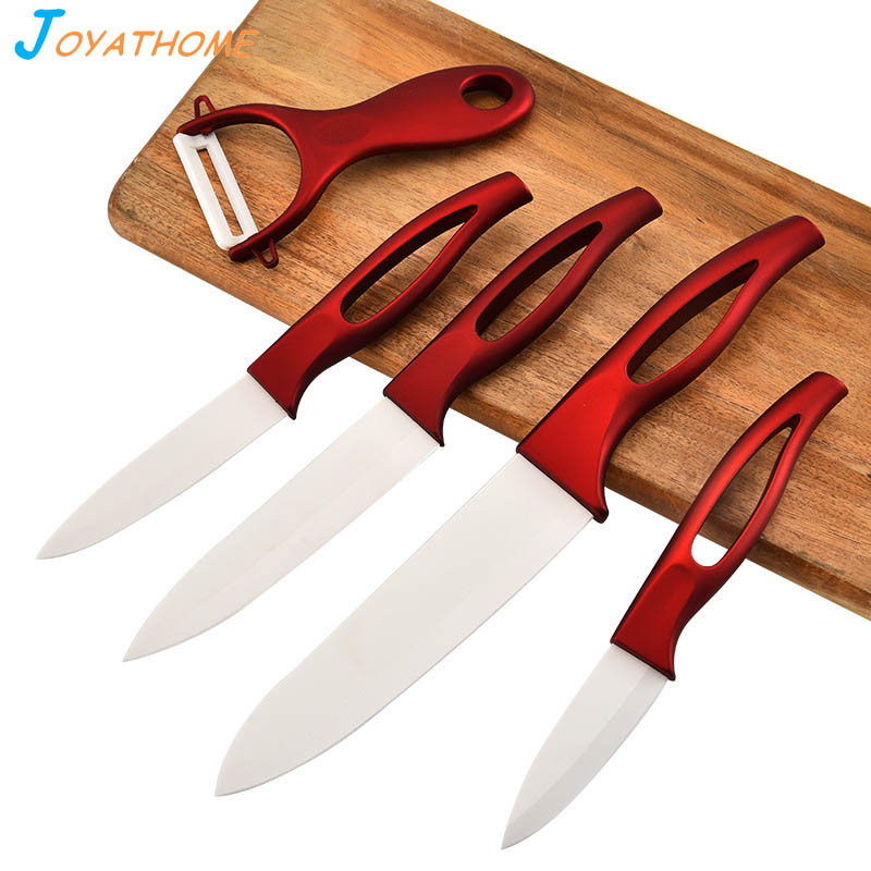 Joyathome 6pcs/Lot White Blade Ceramic Knives Set Chef Knife Kitchen Ceramic Knives Couteau Ceramique Cuchillo Ceramic