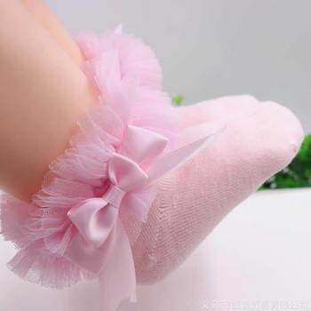 2019 Infant Toddler Baby socks Girls Kids Princess Bowknot Lace Floral Short Socks Cotton Ruffle Frilly Trim Ankle Socks 1