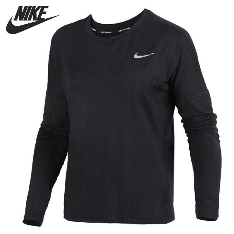 Original New Arrival 2018 NIKE  Element Running Top Women's  T-shirts  Long sleeve Sportswear nike лонгслив element 1 2 zip ls top yth