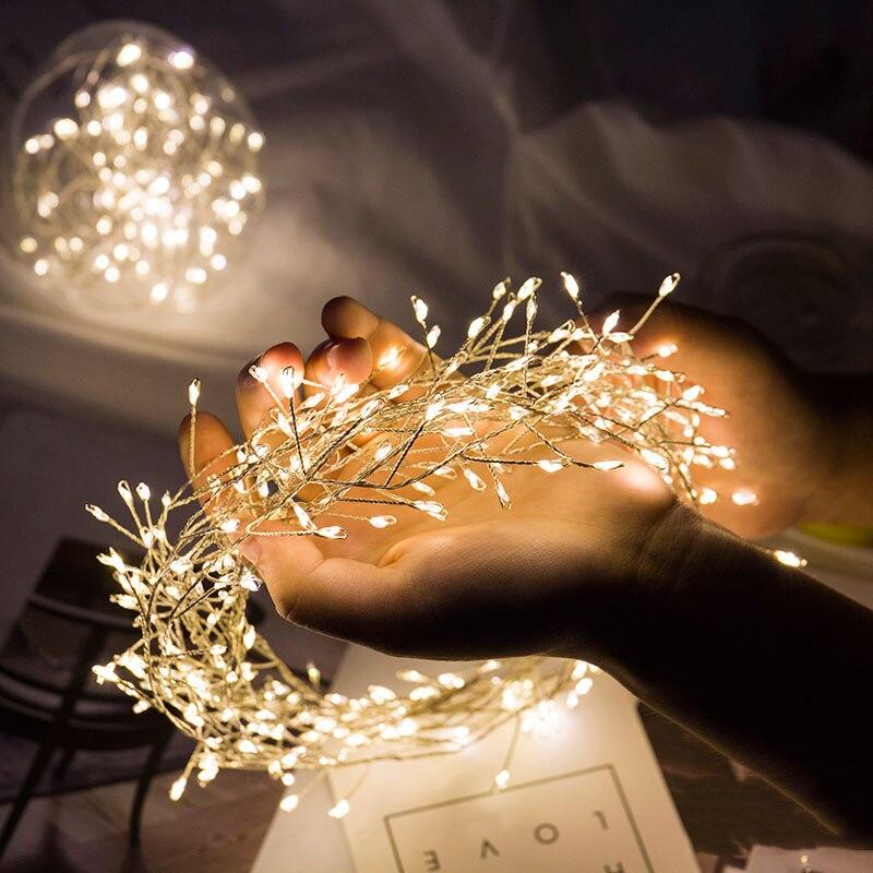 300led fadas firecracker forma fio de cobre luzes da corda luminaria 3m led decoração para o natal guirlanda luzes de fadas