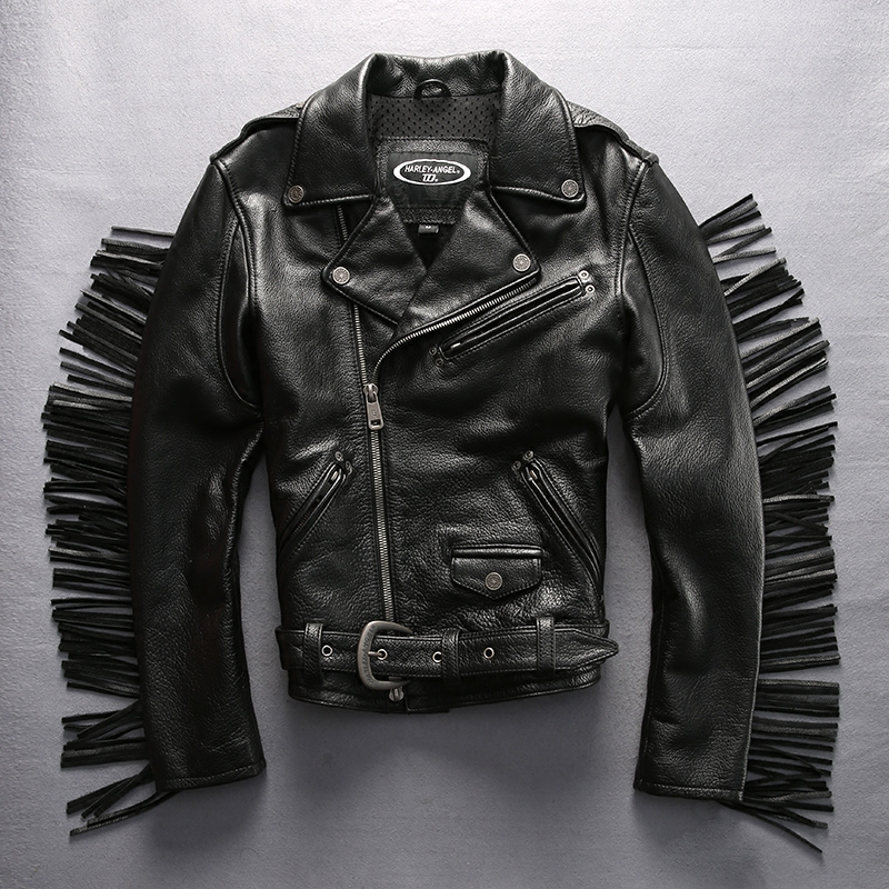 jacket leather motorcycle new mens slim biker coat genuine black fit lambskin 02