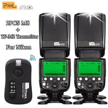 лучшая цена Newest 2PCS Pixel M8 Flash Speedlite Wireless High Speed + TF-362 Flash Trigger Transmitter For Nikon D7100 D3100 D5300 Cameras
