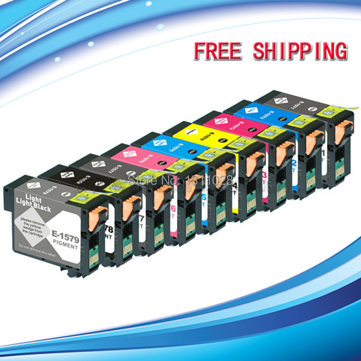 INK WAY pigment T1571 T1572 T1573 T1574 T1575 T1576 T1577 T1578 T1579 chipped compatible ink cartridges for stylus photo R3000 r3000 new empty refillable ink cartridges for epson r3000 with arc chips t1571 t1572 t1573 t1574 t1575 t1576 t1577 t1578 t1579