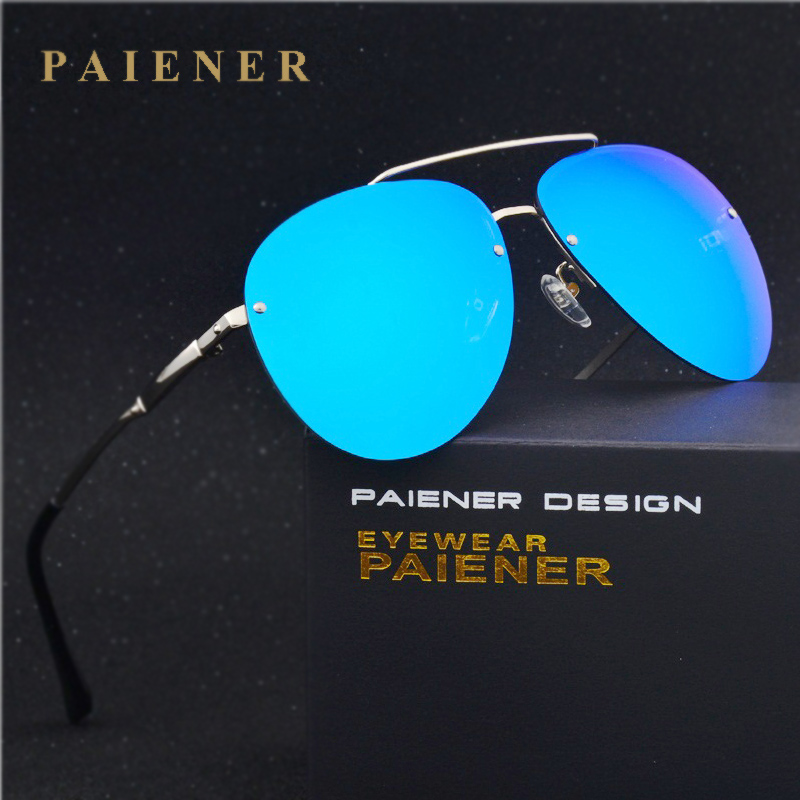 Design da marca de Moda Unissex Óculos de Sol Sem Aro óculos Polarizados  óculos de sol Revestimento de Espelho Óculos de Sol Óculos Masculinos Óculos  Para ... de720a8ce3